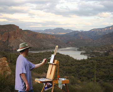 Plein Air Painting Outdoors