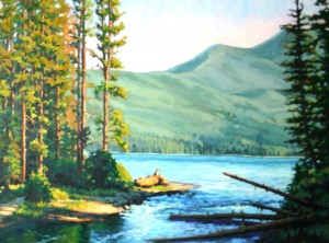 Landscape Painting of Alturas Lake