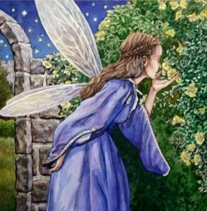Watercolor Painting of Fairy Princess