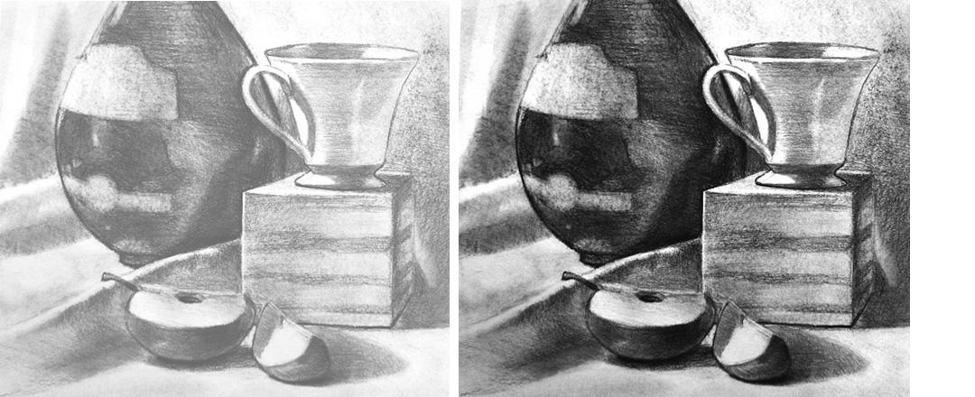 drawing light too light