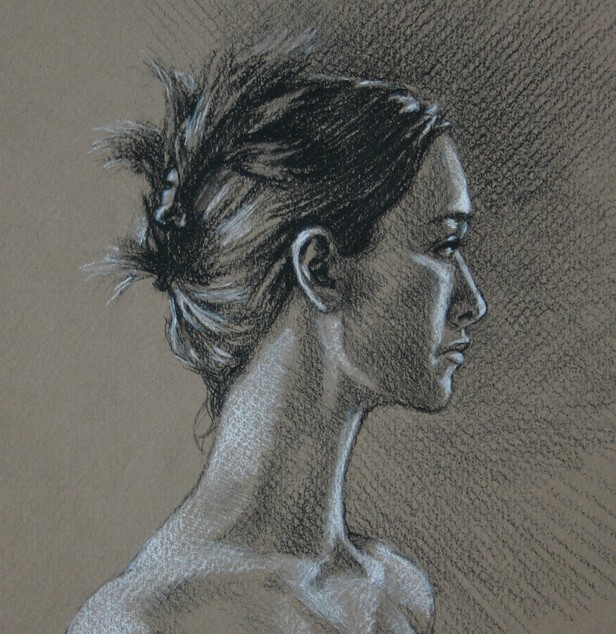 Drawing of a Young Woman by Kevin McCain